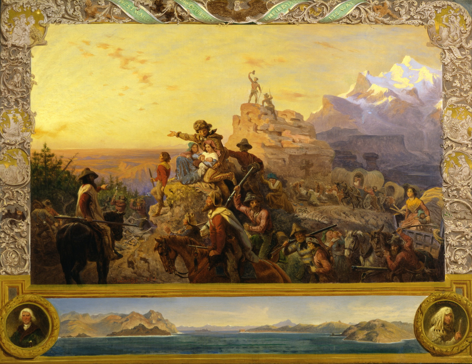 Emanuel Gottlieb Leutze - Westward the Course of Empire Takes Its Way mural study U.S. Capitol -2