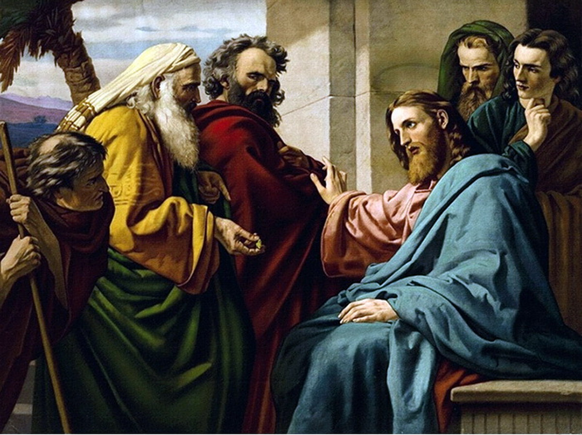 Ernst Zimmerman Christ-and-the-pharisees 1200