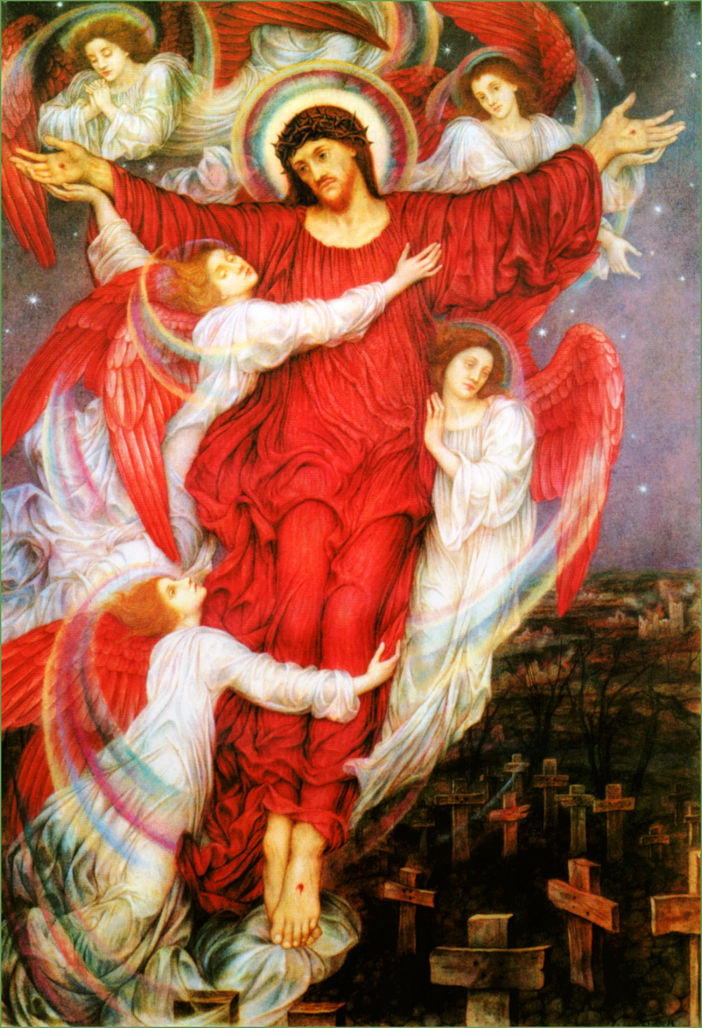 Evelyn De Morgan-The Red Cross-1000