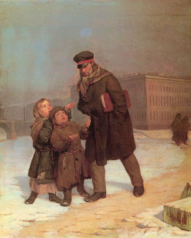 Firs Zhuravlev. Child beggars 1870