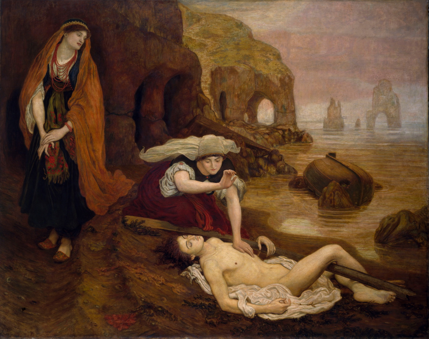 Ford Madox Brown - Finding of Don Juan by Haidee-1500