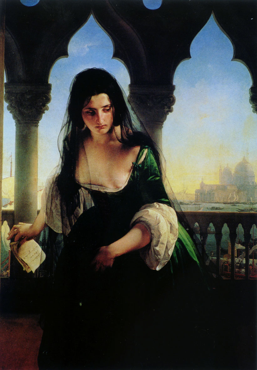 Francesco Hayez Italian Romantic Painter 1791  1882  Accusa segret