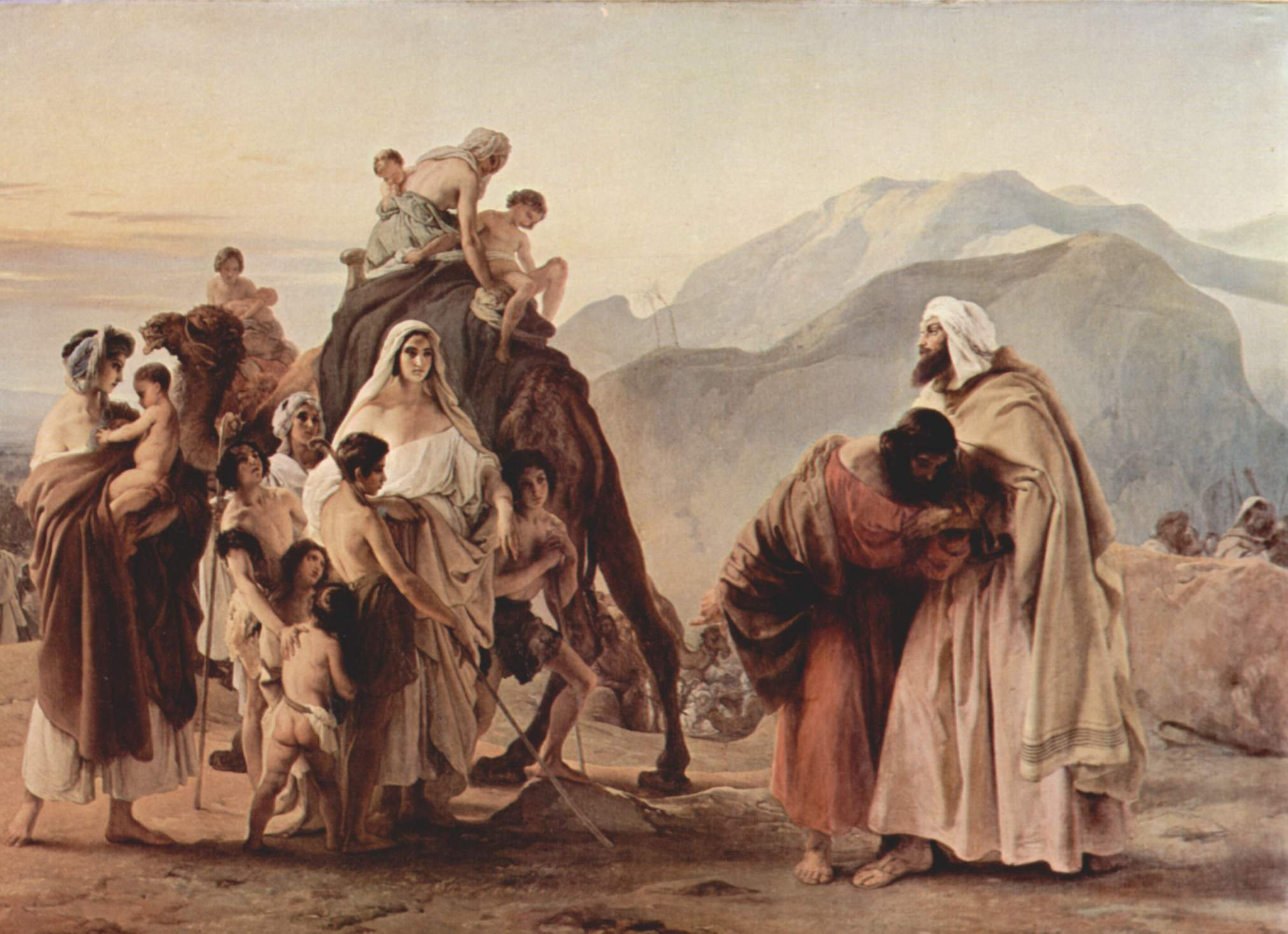 Francesco Hayez Meeting of Esau and Jacob