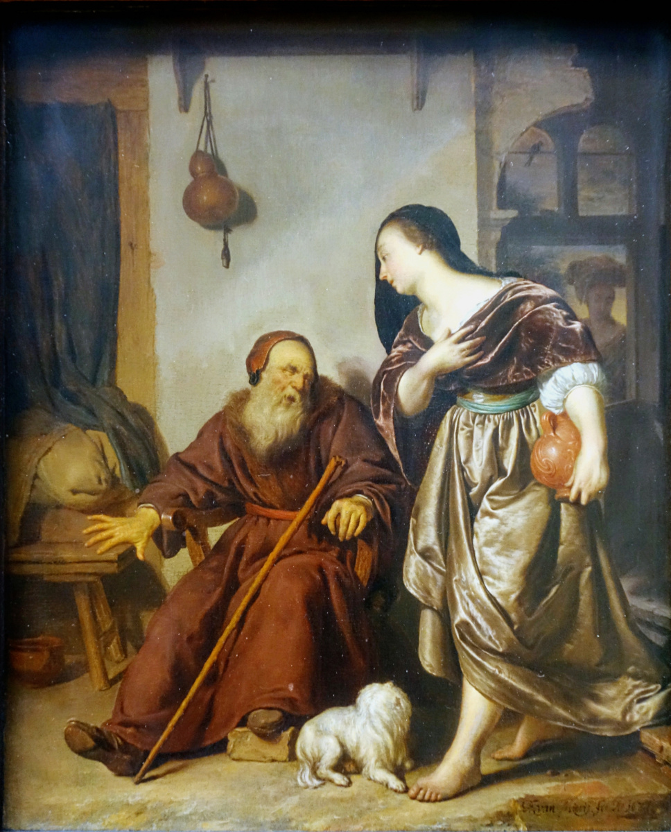 Frans van Mieris-1635-1681-jeroboam-wife-visits-the-prophet-ahijah-1671-2
