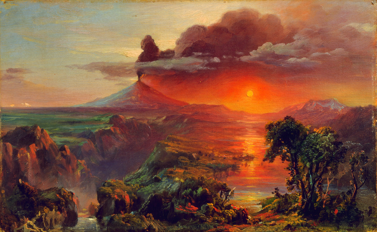 Frederic Edwin Church-Oil Study of Cotopaxi-1600