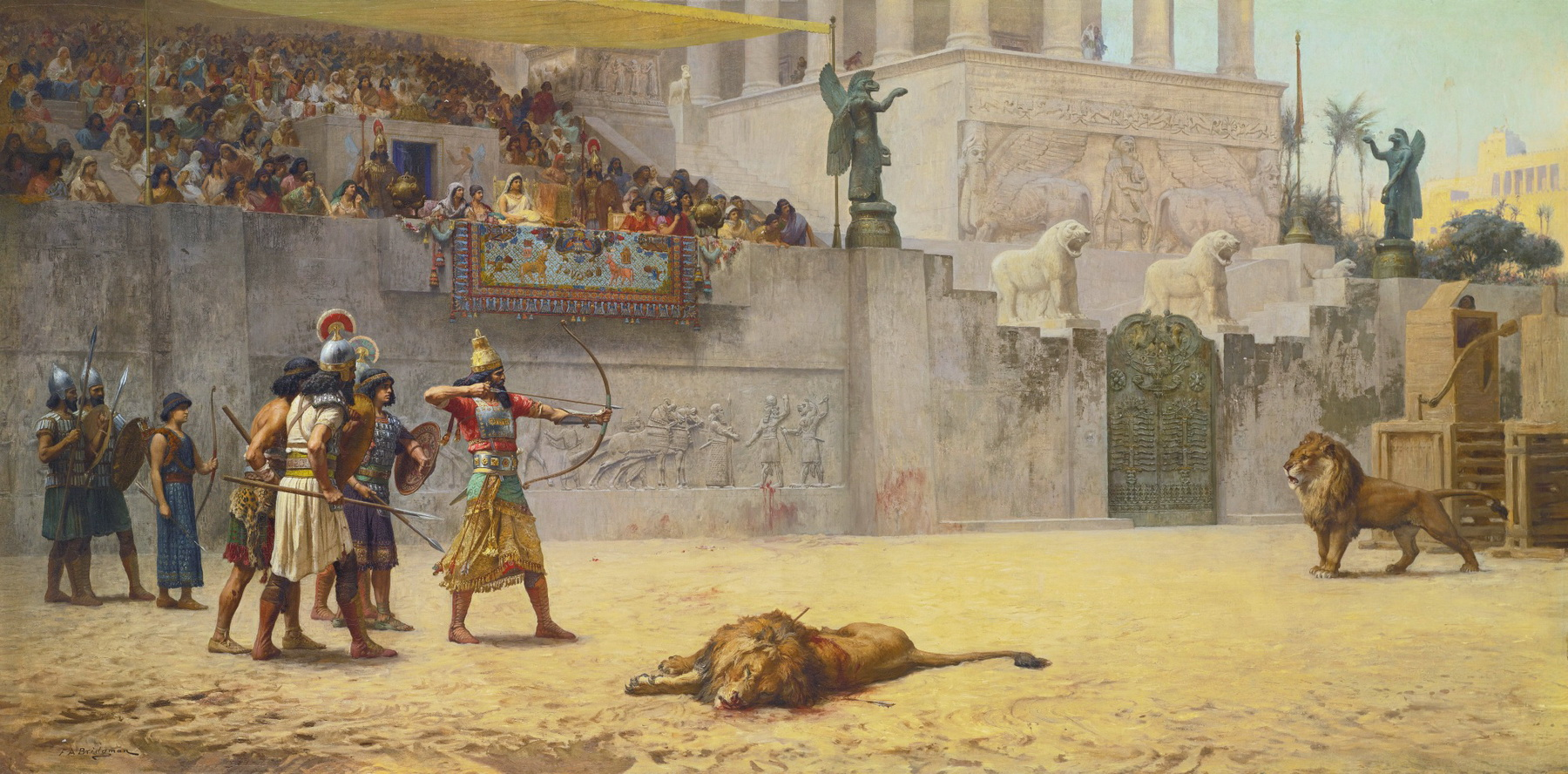 Frederick Arthur Bridgman The Diversion of an Assyrian King. Oil on canvas. Sothebys-2