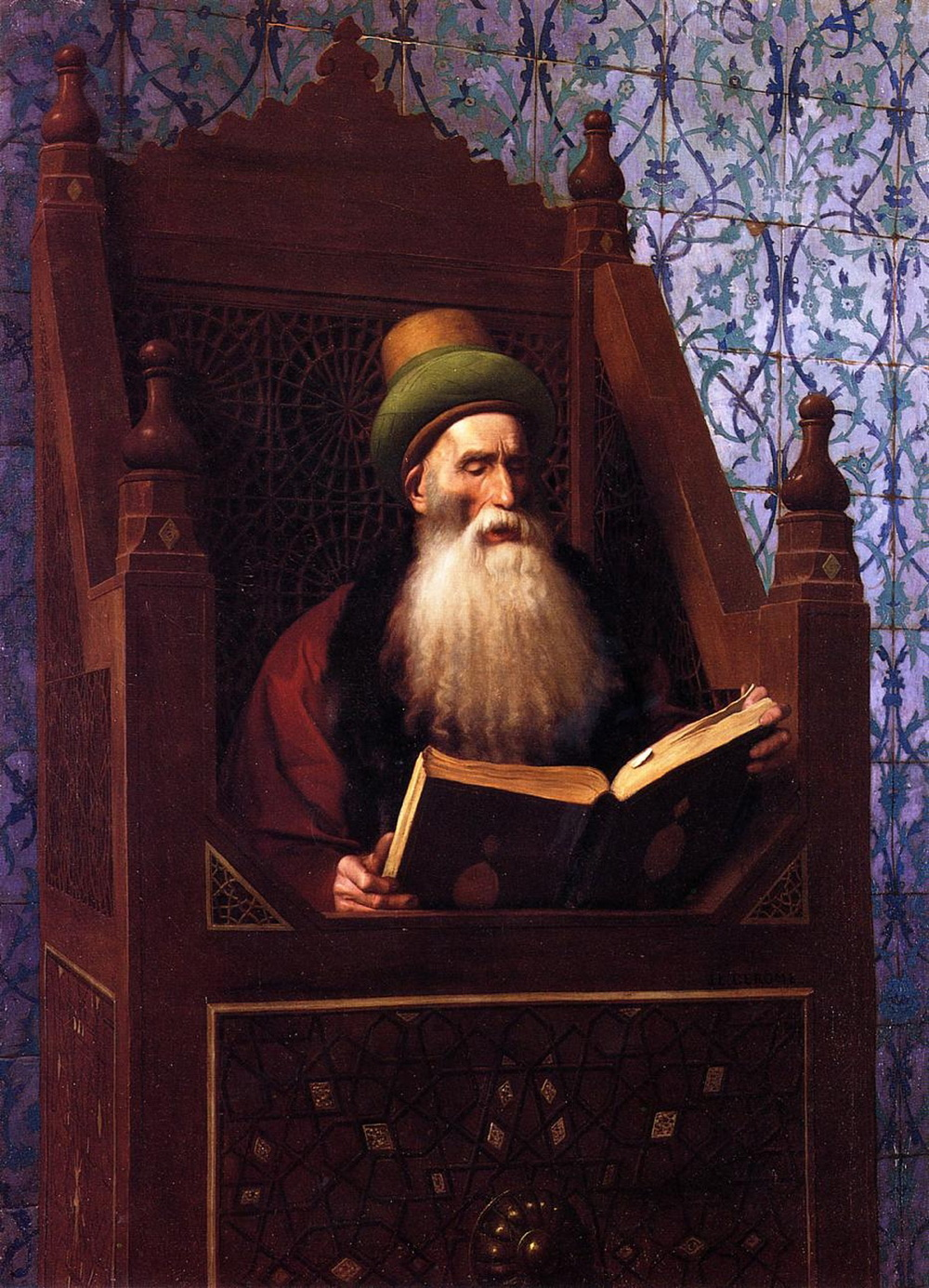 Gérôme - Mufti Reading in His Prayer Stool-2