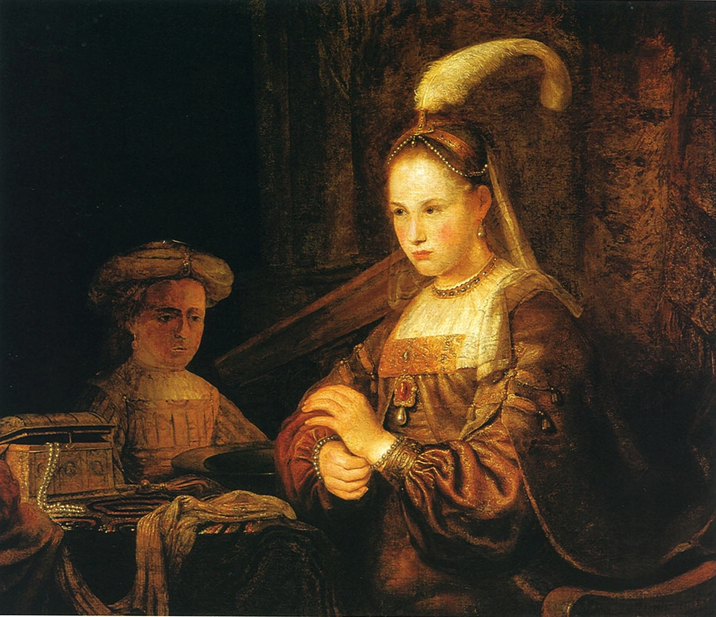 Gelder A lady at her toilet-2