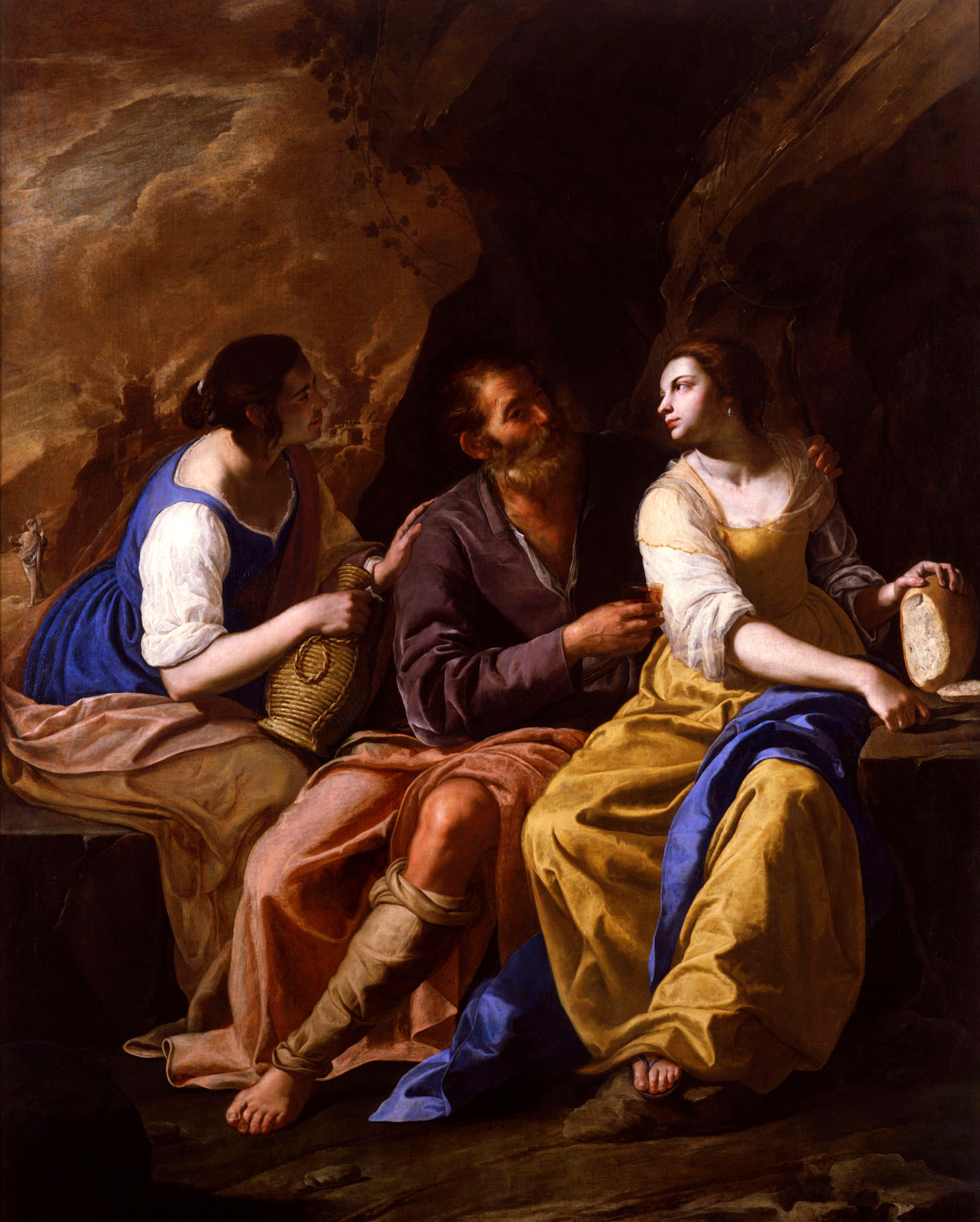 Gentileschi Artemisia - Lot and his Daughters - 1635-1638-2