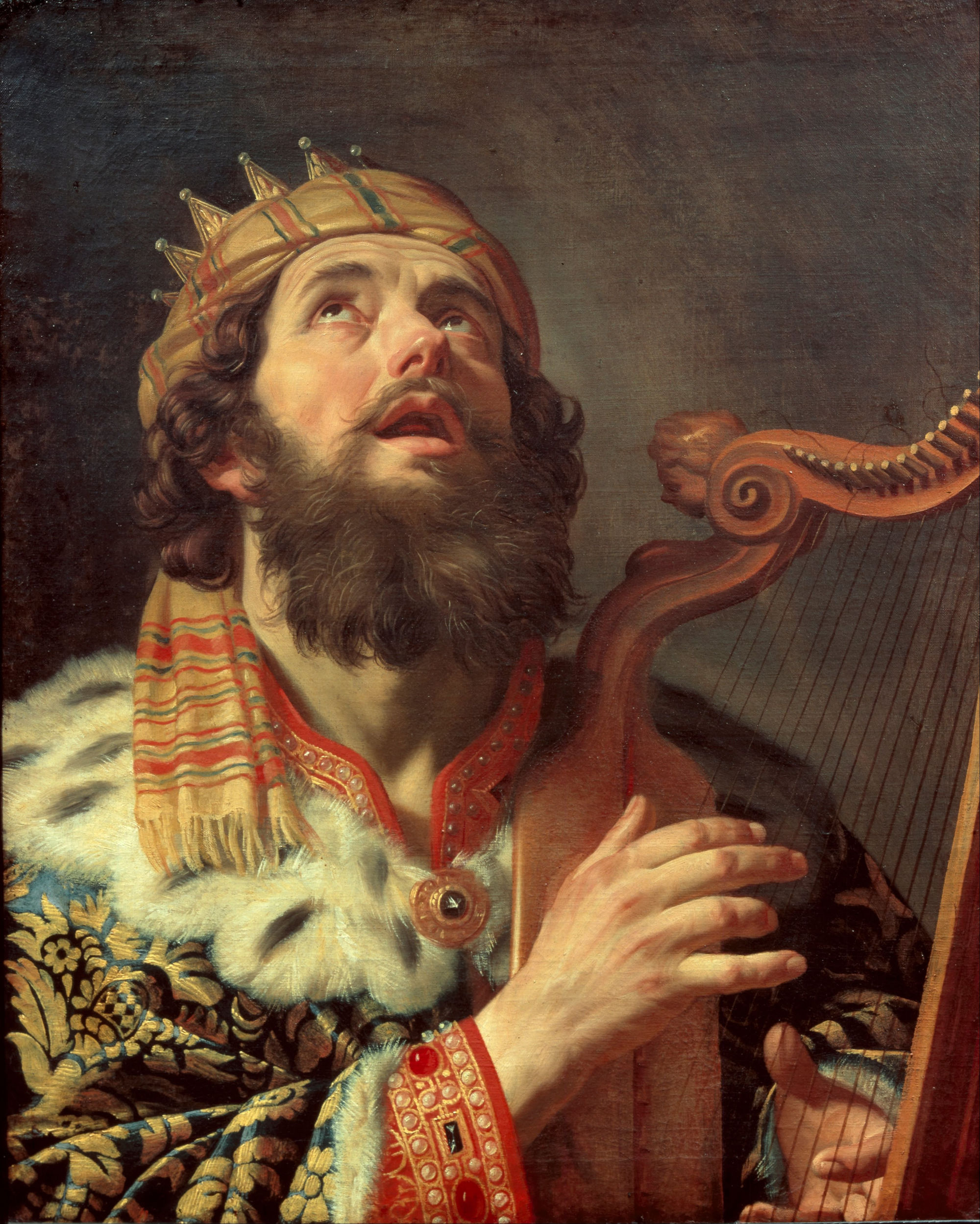 Gerard van Honthorst - King David Playing the Harp