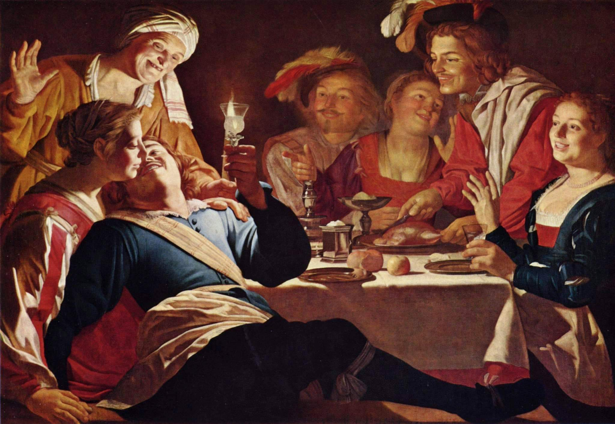 Gerrit van Honthorst Merry Company or The Prodigal Son 1622