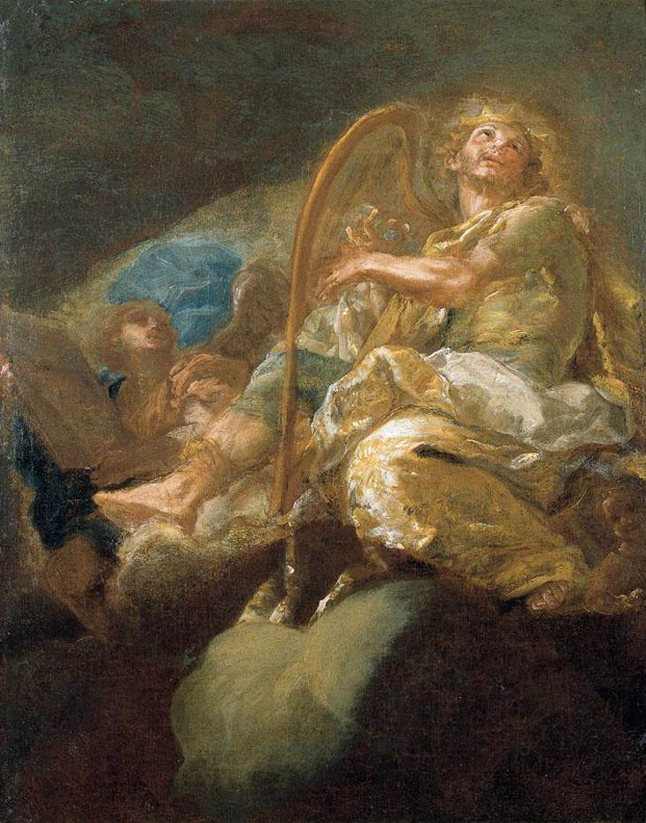 Giacomo del Pò - King David Playing the Harp - WGA17985