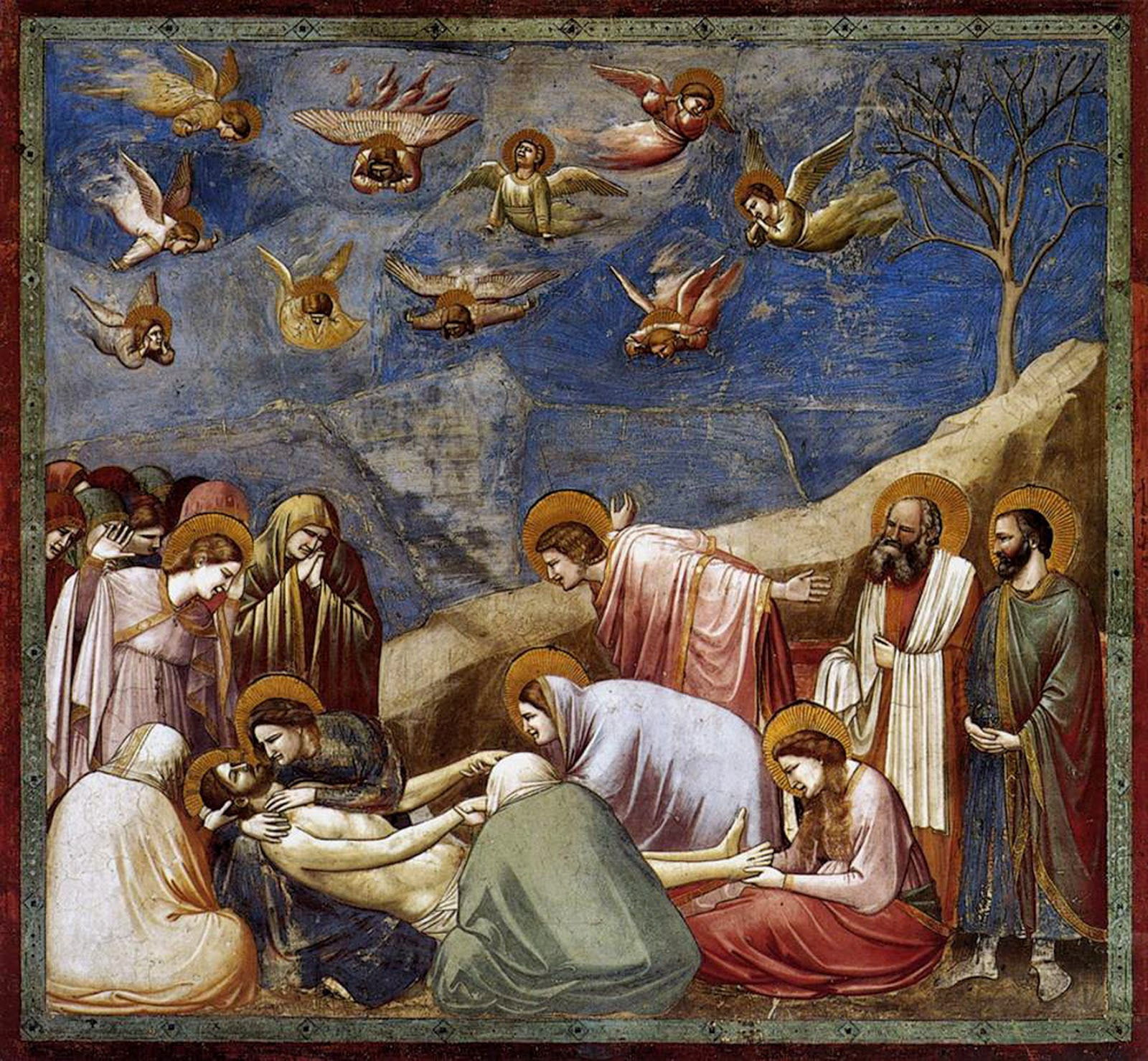 Giotto - Scrovegni - -36- - Lamentation The Mourning of Christ