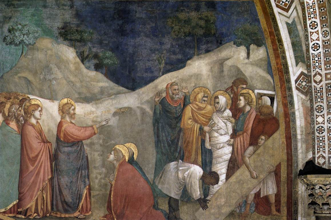 Giotto Raising of Lazarus Italian 1304-1306