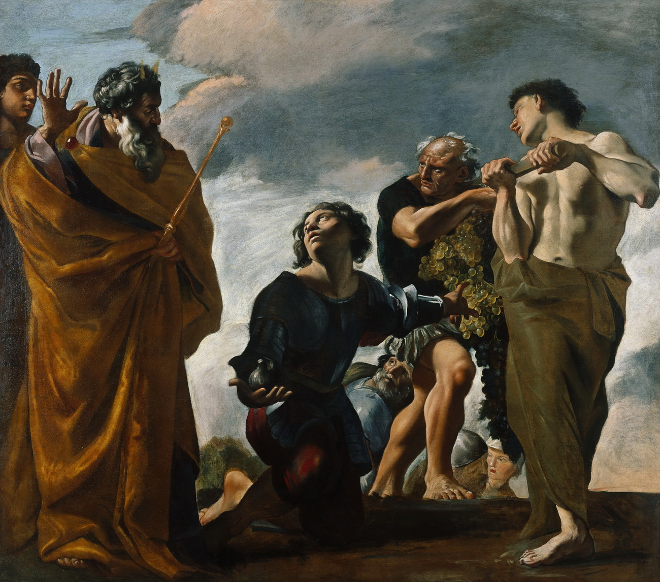 Giovanni Lanfranco - Moses and the Messengers from Canaan 1621-24-1300
