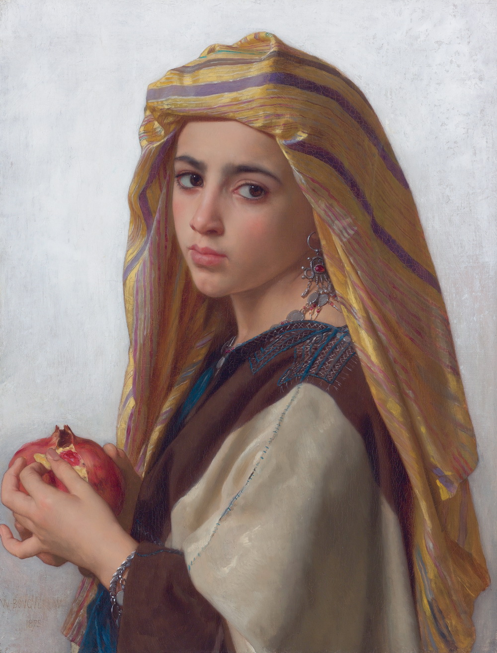 Girl with a pomegranate by William Bouguereau-1000
