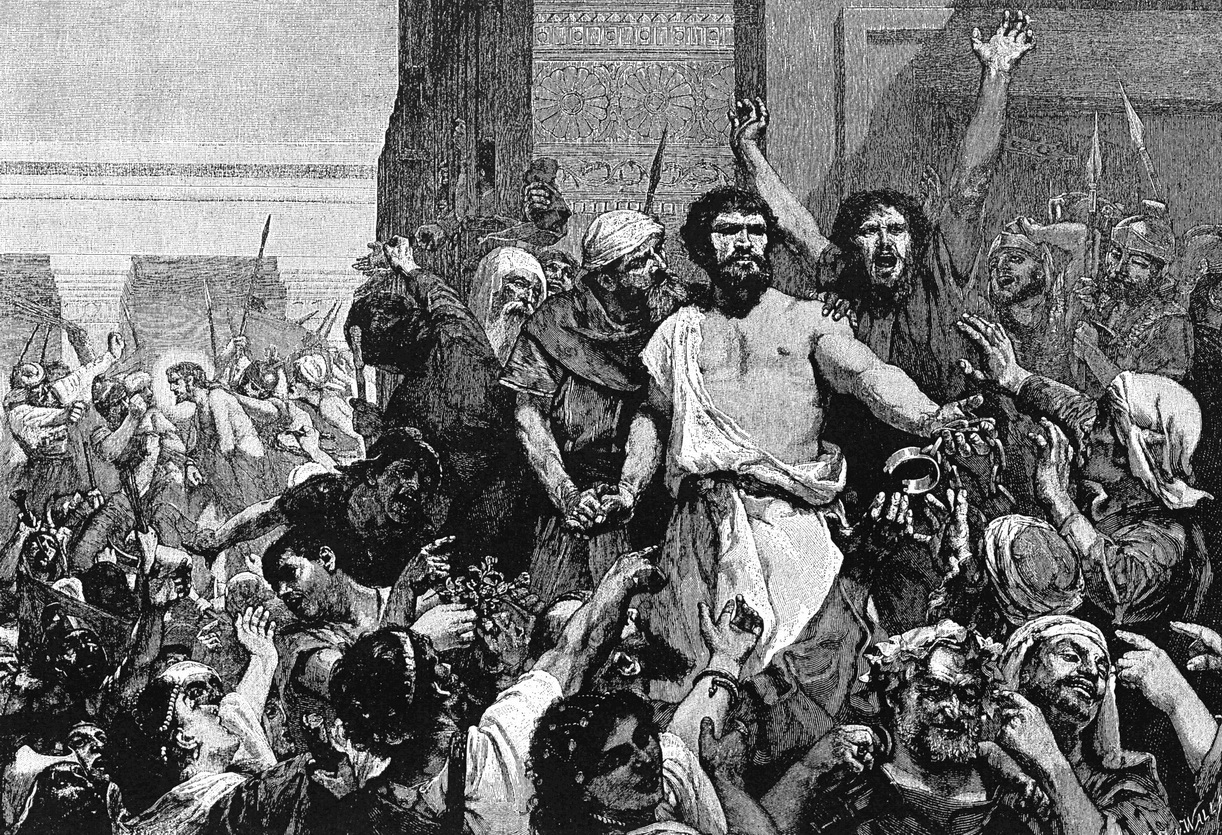 Give us Barabbas from The Bible One Thousand Picture Lessons 1910-1222