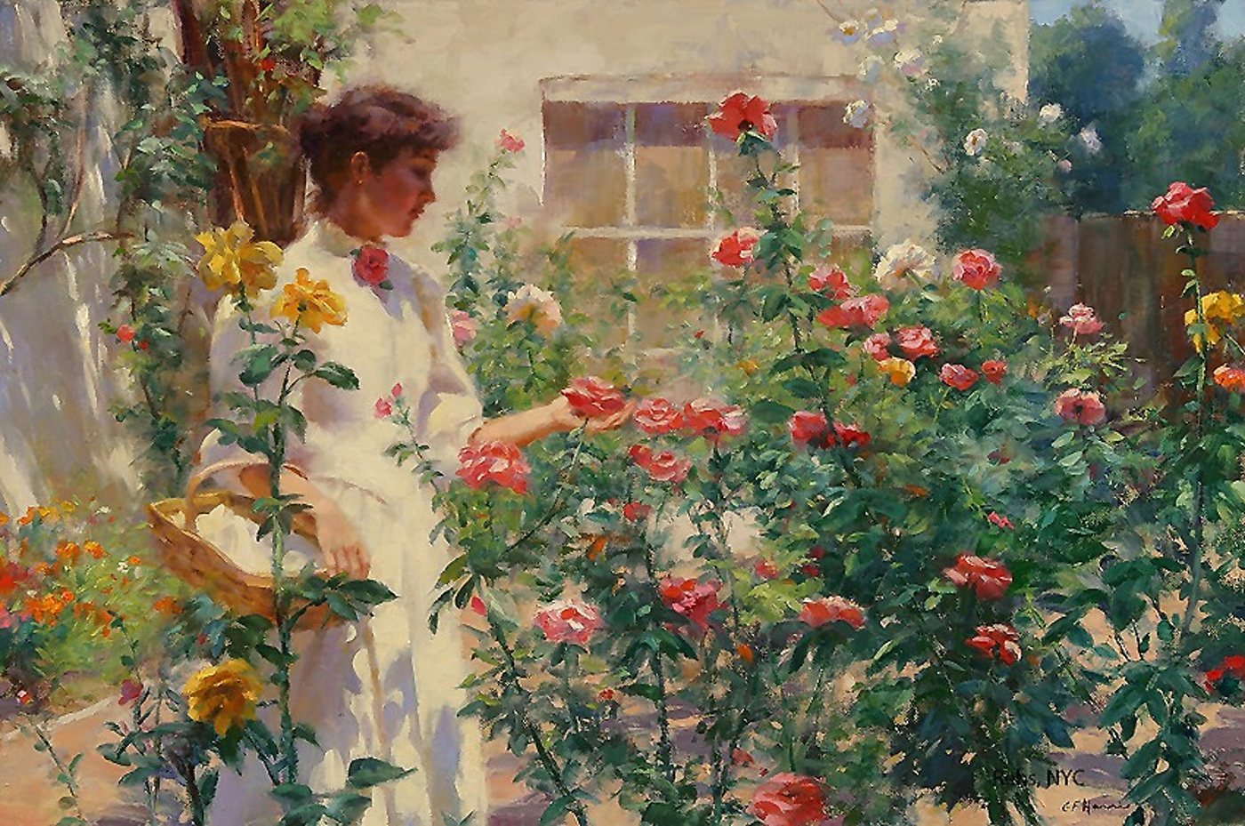 Gregory Frank Harris - garden of roses-2