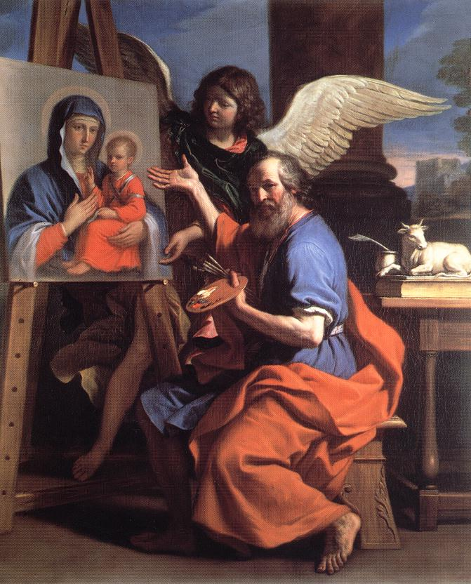 Guercino - St Luke Displaying a Painting of the Virgin - WGA10948