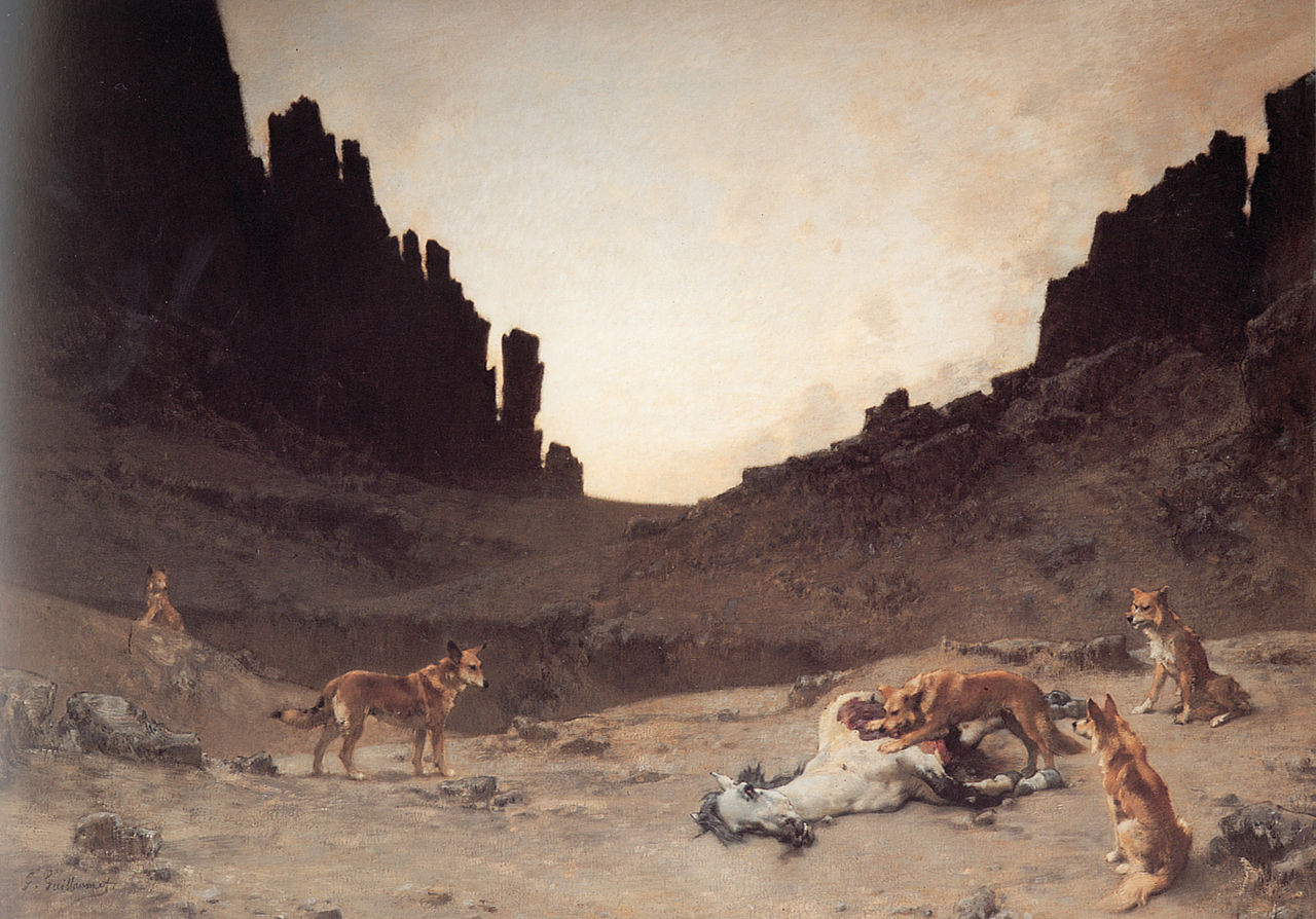 Guillaumet Dogs of the Douar Devuring a Dead Horse