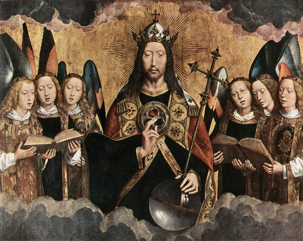 Hans Memling - Christ Surrounded by Musician Angels - WGA14935