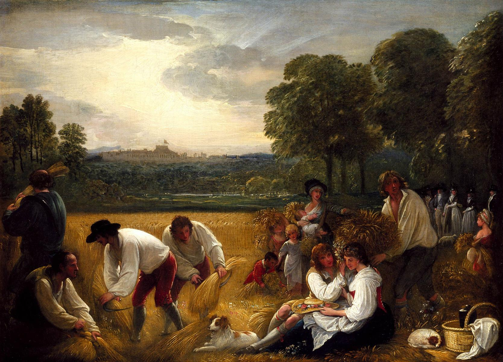 Harvesting at Windsor - Benjamin West