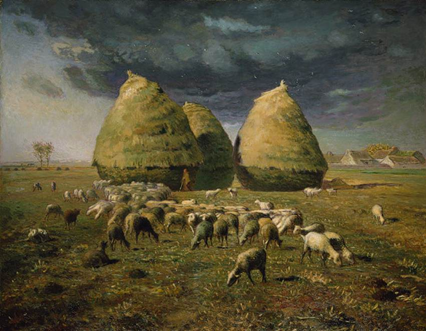 Haystacks Autumn 1873 Jean-Francois Millet