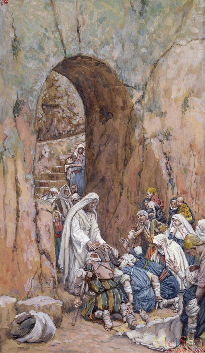 He did no Miracles Save that He Healed Them by James Tissot