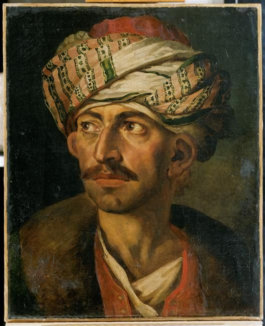 Head of an Oriental or Portrait Presumed to be Mustapha 1819-1821