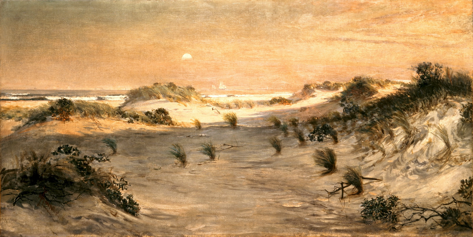 Henry Ossawa Tanner - Sand Dunes at Sunset-1600