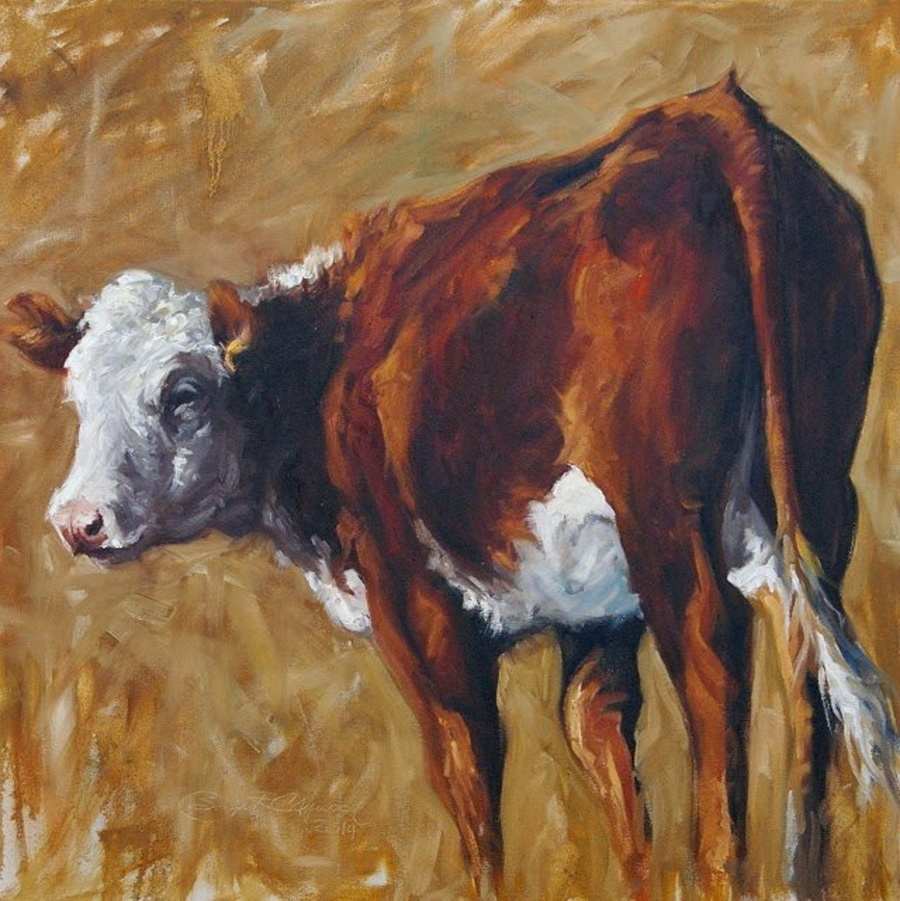 Hereford Heifer by Sonja Caywood