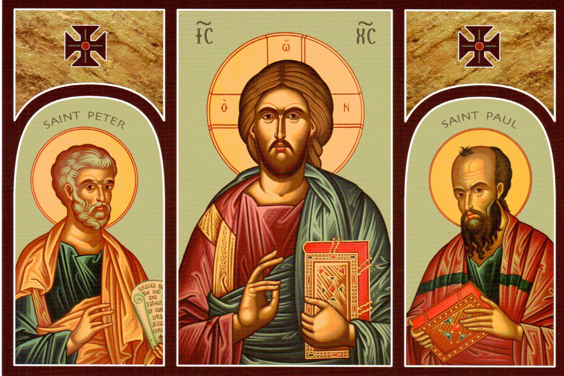 Icon-of-Jesus-and-Saints-Peter-and-Paul