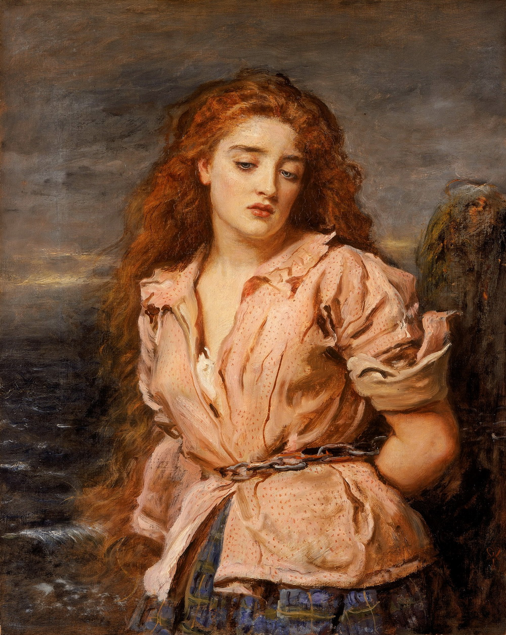 JOHN EVERETT MILLAIS - The Martyr of the Solway-1000