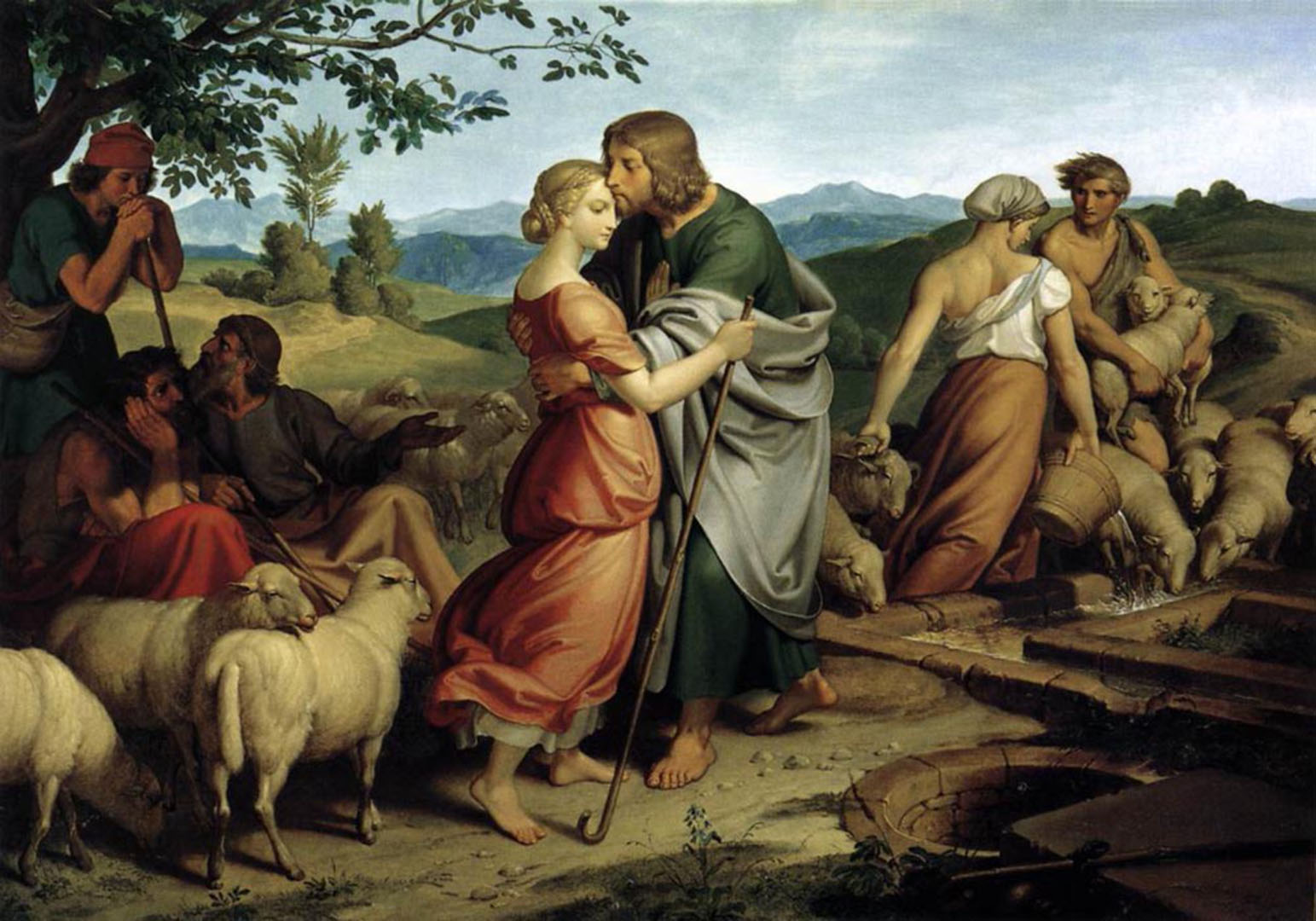 Jacob Encountering Rachel with her Fathers Herds Joseph von Führich 1836