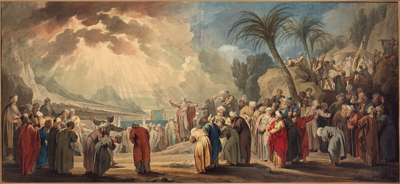 Jacob de Wit Moses chooses seventy elders 1739-1400