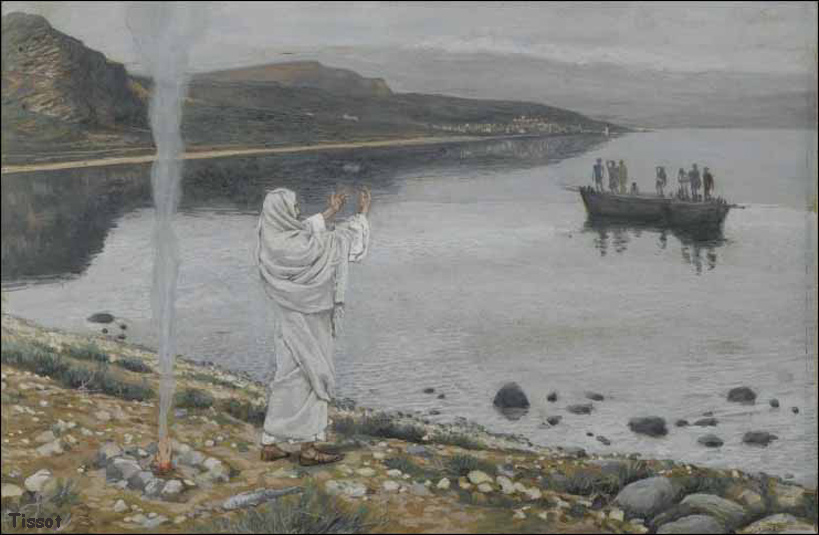 James Tissot Christ Appears on the Shore
