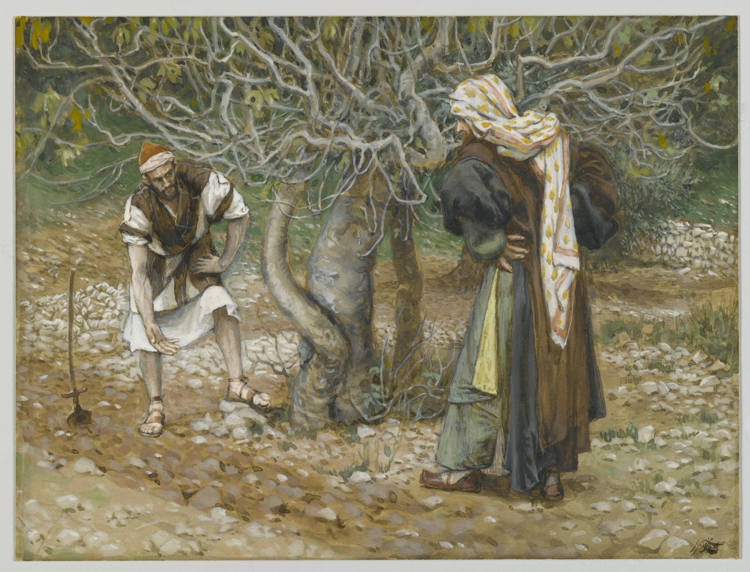 James Tissot The Vine Dresser and the Fig Tree