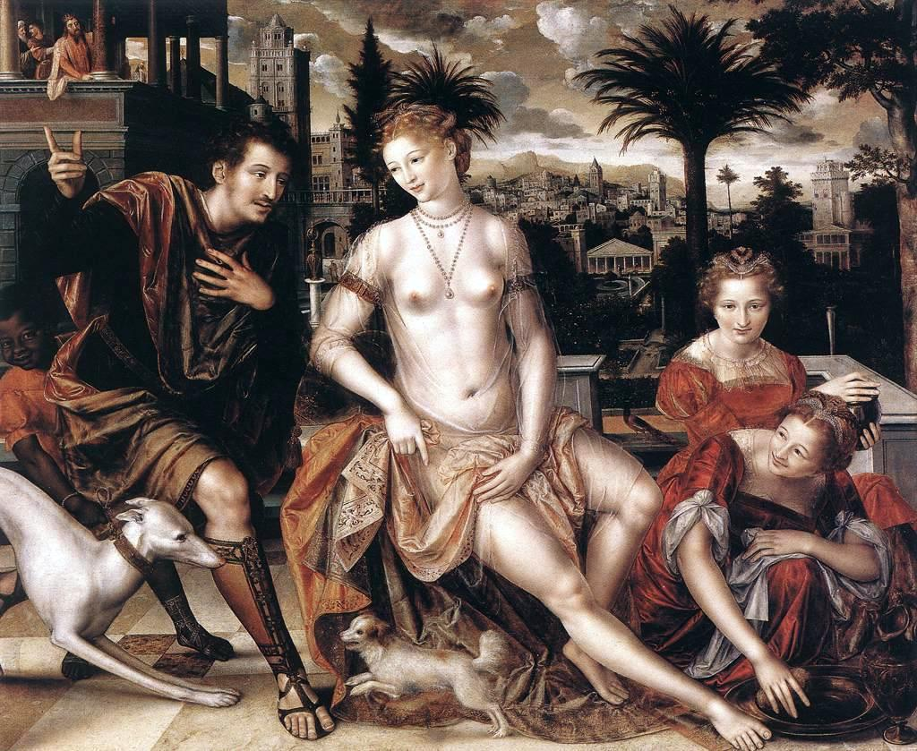 Jan Massys - David and Bathsheba-2