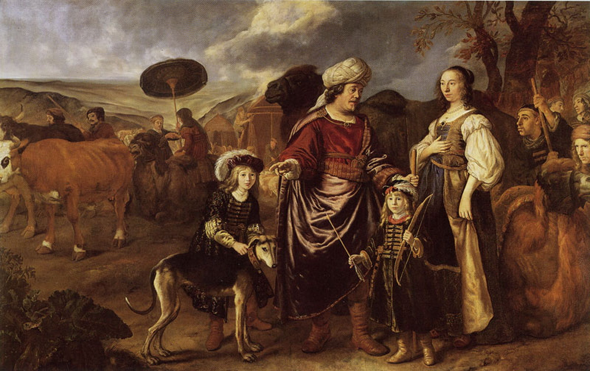 Jan Victors - Isaac and Rebecca with Jacob and Esau-1200