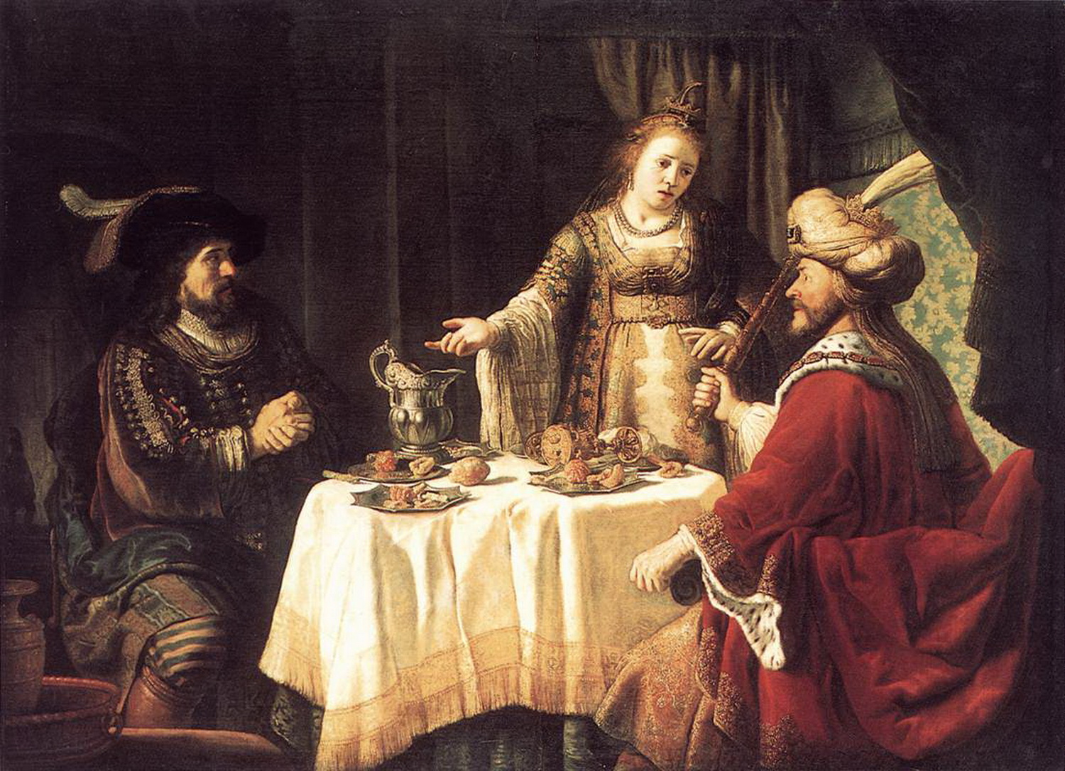 Jan Victors - The Banquet of Esther and Ahasuerus - WGA25059-2