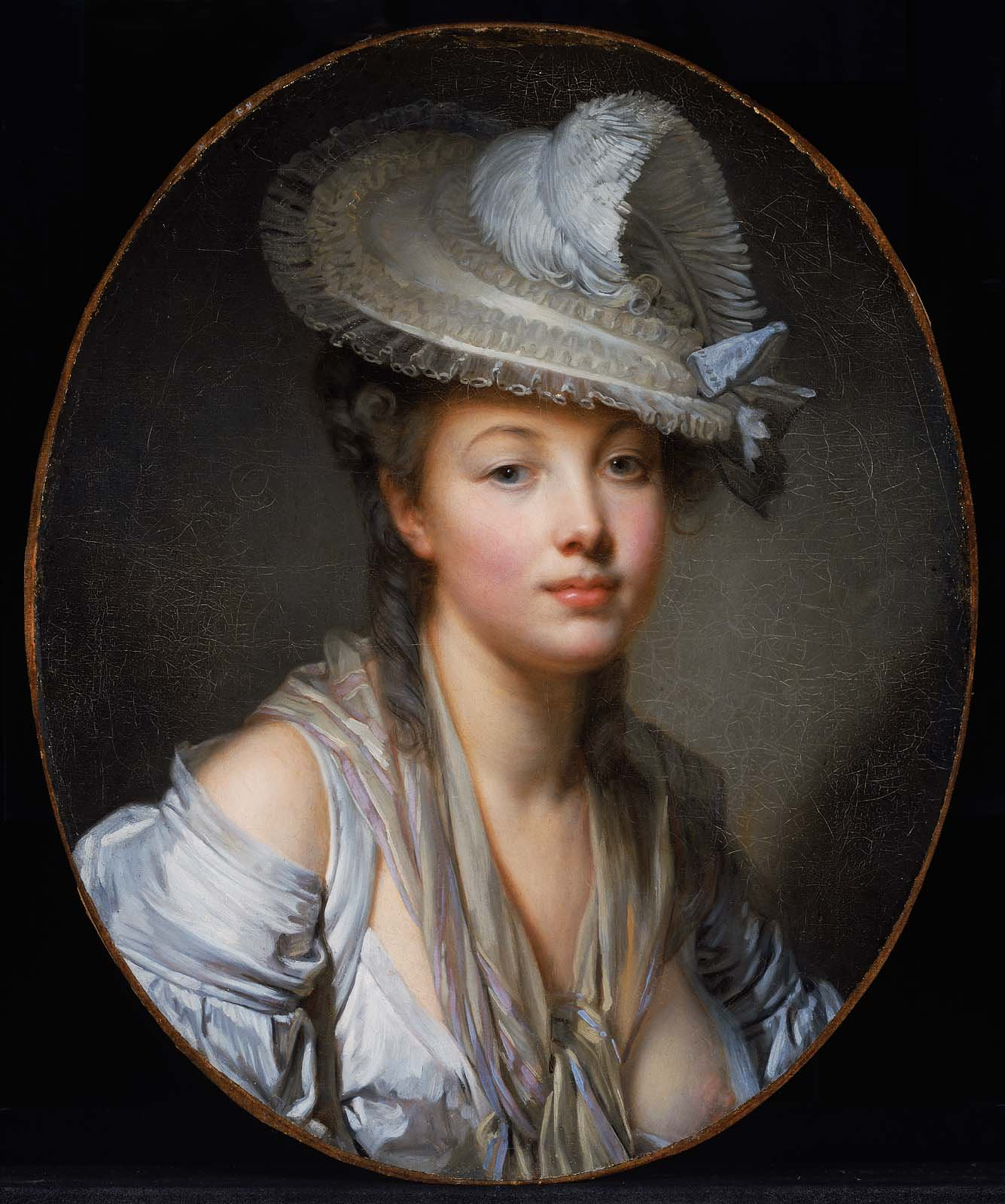 Jean-Baptiste Greuze-the white hat