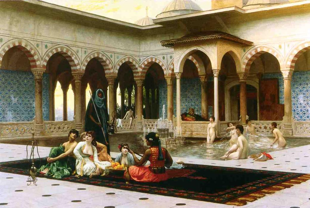 Jean-Leon-Gerome-The-Harem-on-the-Terrace
