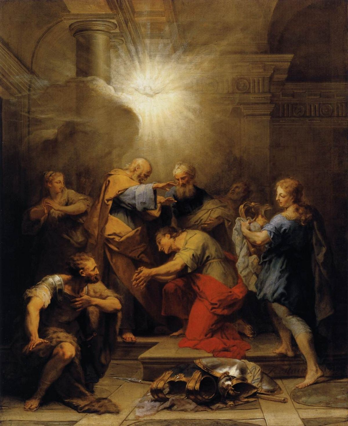 Jean II Restout 1692-1768Ananias Restoring the Sight of St Paul