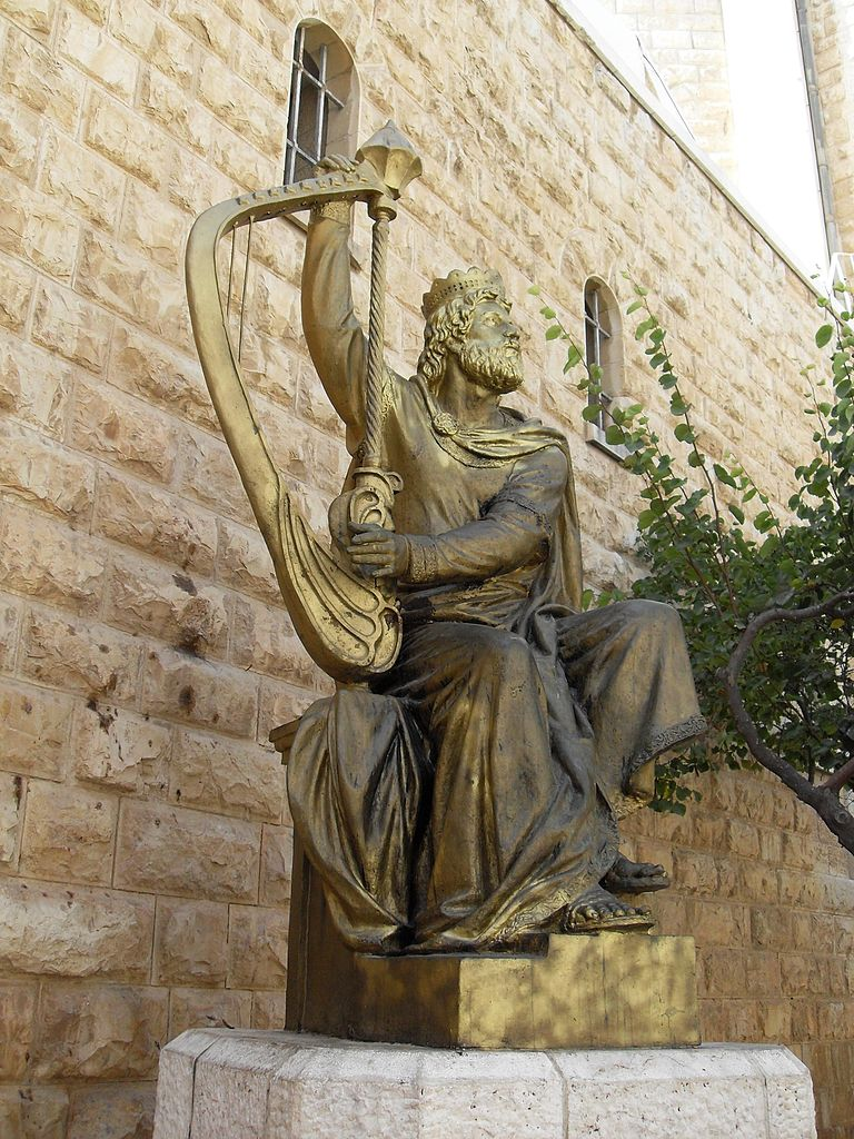 Jerusalem Mount Sion King David Statue