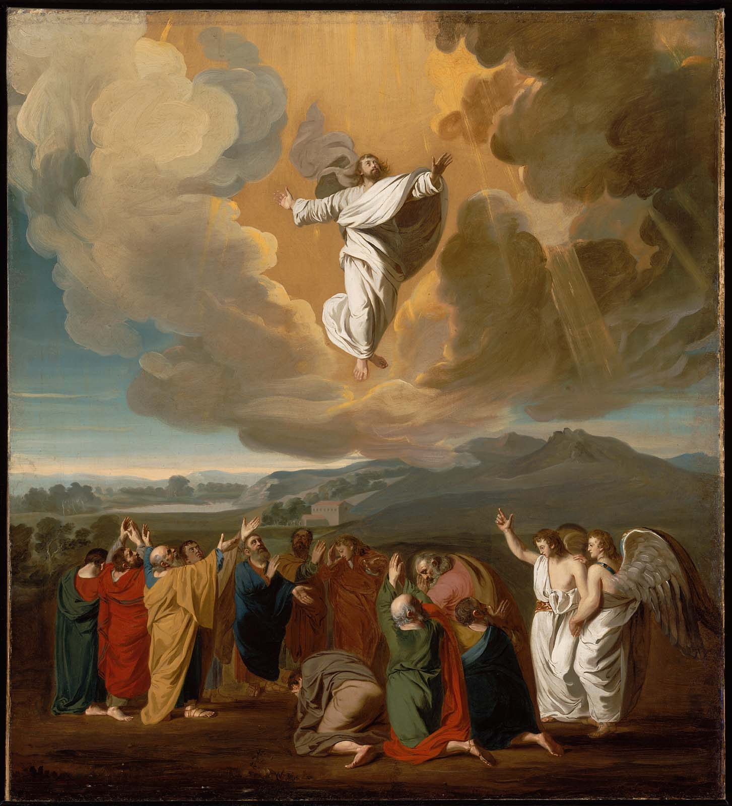 Jesus ascension to heaven by John Singleton Copley 1775-2