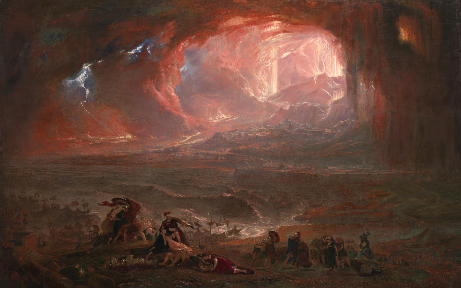 John Martin. The Destruction of Pompei and Herculaneum. 1822-2