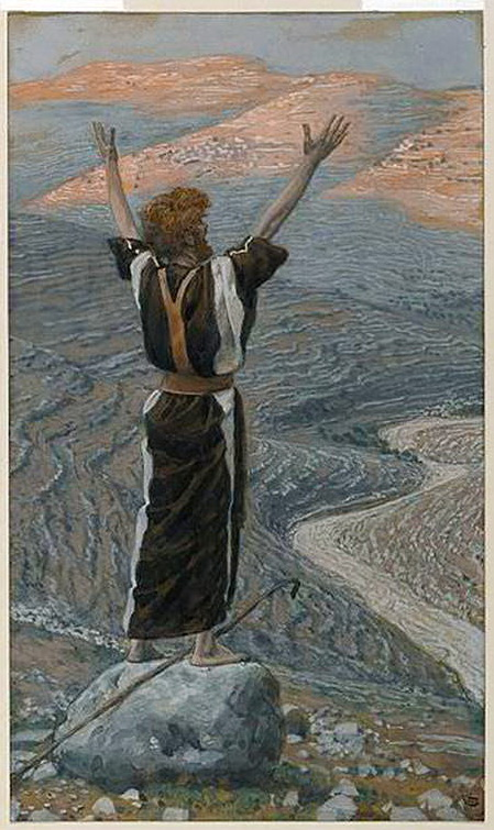 John the Baptist Calling Out in the Wilderness-Tissot