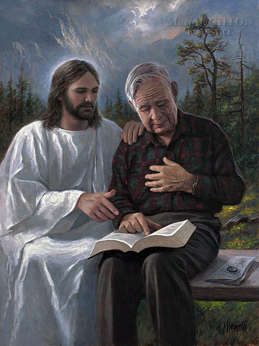 Jon McNaughton-Touched by the Scripture
