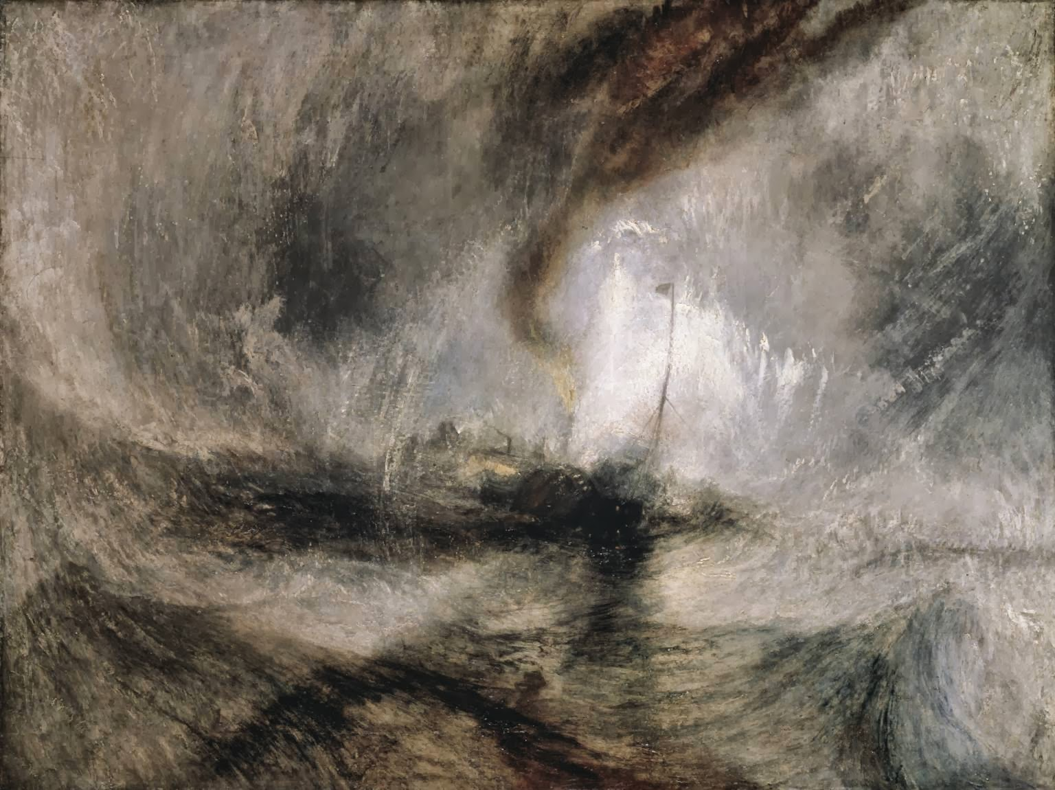 Joseph Mallord William Turner British 1775-1851 Snow Storm-3