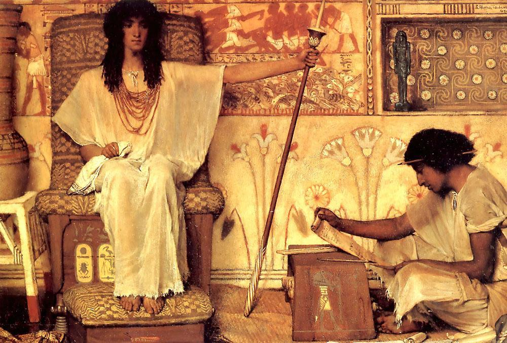 Joseph Overseer of the Pharaohs Granaries 1874 paiting by Lawrence Alma-Tadema